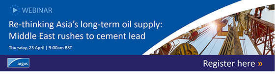 Webinar - Re-thinking Asia's long-term oil supply: Middle East rushes to cement lead